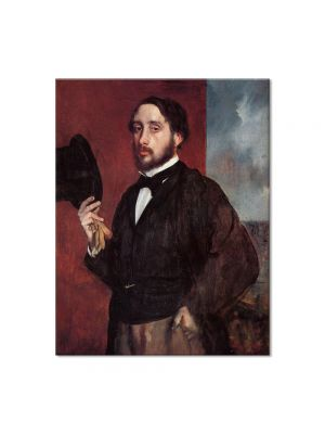 Tablou Arta Clasica Pictor Edgar Degas Self Portrait Saluting 1863 80 x 100 cm