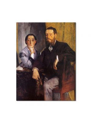 Tablou Arta Clasica Pictor Edgar Degas Edmond and Therese Morbilli 1867 80 x 100 cm