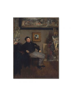 Tablou Arta Clasica Pictor Edgar Degas Portrait of James Tissot 1868 80 x 100 cm