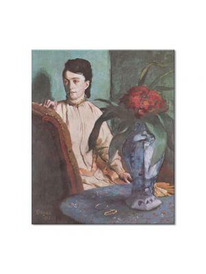 Tablou Arta Clasica Pictor Edgar Degas Woman with the Oriental Vase 1872 80 x 90 cm