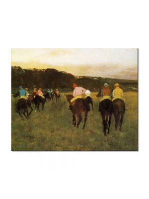 Tablou Arta Clasica Pictor Edgar Degas Race Horses at Longchamp 1874 80 x 100 cm