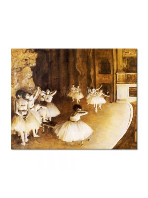 Tablou Arta Clasica Pictor Edgar Degas The Ballet Rehearsal on Stage 1874 80 x 100 cm