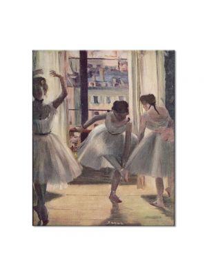 Tablou Arta Clasica Pictor Edgar Degas Three Dancers in an Exercise Hall 1874 80 x 90 cm