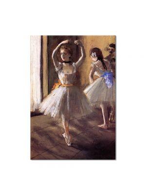 Tablou Arta Clasica Pictor Edgar Degas Two Dancers in the Studio. Dance School 1875 80 x 100 cm