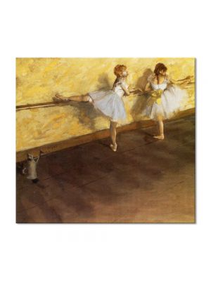 Tablou Arta Clasica Pictor Edgar Degas Dancers Practicing at the Barre 1877 80 x 90 cm