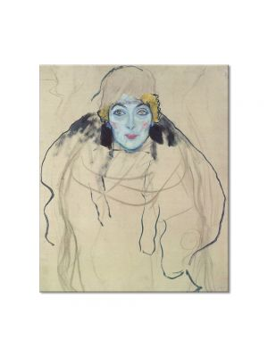 Tablou Arta Clasica Pictor Gustav Klimt Amalie Zuckerkandl 1918 80 x  80 cm