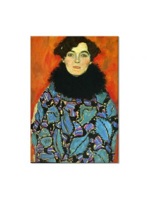 Tablou Arta Clasica Pictor Gustav Klimt Lady with Fan 1918 80 x  80 cm
