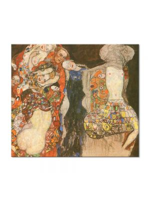 Tablou Arta Clasica Pictor Gustav Klimt The Bride, unfinished 1917 80 x 90 cm