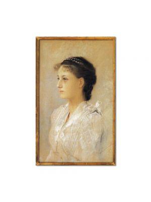 Tablou Arta Clasica Pictor Gustav Klimt Emilie Floge, Aged 17 1891 80 x 120 cm