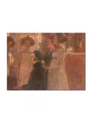 Tablou Arta Clasica Pictor Gustav Klimt Schubert at the piano I 1896 80 x 110 cm