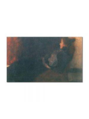Tablou Arta Clasica Pictor Gustav Klimt Lady by the Fireplace 1898 80 x 130 cm