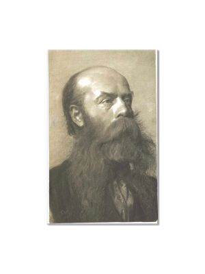 Tablou Arta Clasica Pictor Gustav Klimt Portrait of a man with beard in three quarter profil 1879 80 x 120 cm