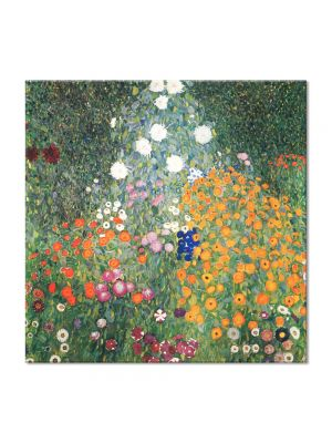 Tablou Arta Clasica Pictor Gustav Klimt Country Garden with Sunflowers 1905 80 x  80 cm