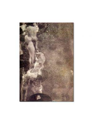 Tablou Arta Clasica Pictor Gustav Klimt Flower Garden 1907 80 x  80 cm