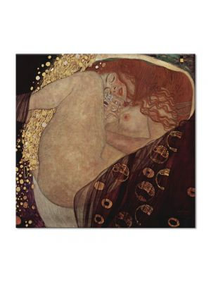 Tablou Arta Clasica Pictor Gustav Klimt The Sunflower 1907 80 x  80 cm