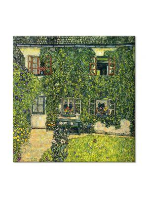 Tablou Arta Clasica Pictor Gustav Klimt Farm Garden with Crucifix 1912 80 x  80 cm