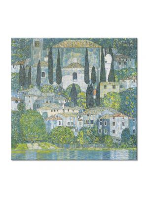 Tablou Arta Clasica Pictor Gustav Klimt Italian horticultural landscape 1913 80 x  80 cm