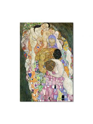 Tablou Arta Clasica Pictor Gustav Klimt Country House by the Attersee 1914 80 x  80 cm