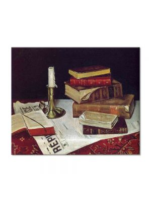 Tablou Arta Clasica Pictor Henri Matisse Still Life with Books and Candle 1890 80 x 100 cm