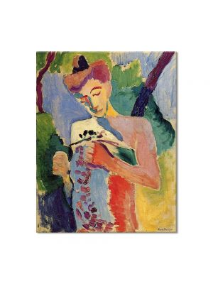 Tablou Arta Clasica Pictor Henri Matisse Woman. Branch of Flowers 1913 80 x 100 cm