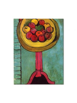 Tablou Arta Clasica Pictor Henri Matisse Apples on a Table, Green Background 1916 80 x 100 cm