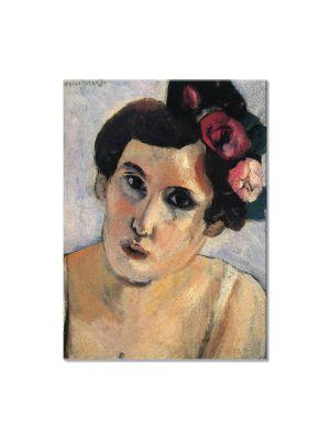 Tablou Arta Clasica Pictor Henri Matisse Woman's Head, Flowers in Her Hair 1917 80 x 100 cm