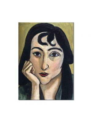 Tablou Arta Clasica Pictor Henri Matisse Head of Lorette with Curls 1917 80 x 100 cm