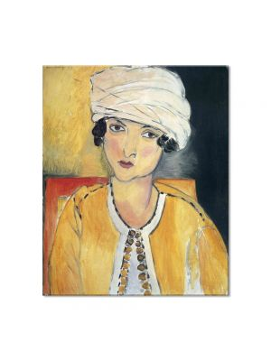 Tablou Arta Clasica Pictor Henri Matisse Lorette with Turban and Yellow Vest 1917 80 x 90 cm