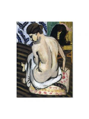 Tablou Arta Clasica Pictor Henri Matisse Seated Nude, Back Turned 1918 80 x 100 cm