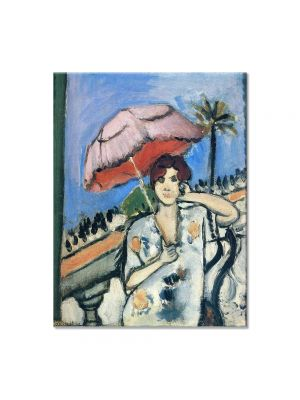 Tablou Arta Clasica Pictor Henri Matisse Woman on the Balcony with a Pink Umbrella 1920 80 x 100 cm