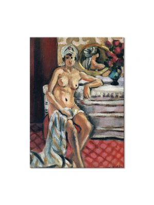 Tablou Arta Clasica Pictor Henri Matisse Nude in a Turban 1922 80 x 100 cm