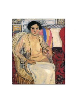 Tablou Arta Clasica Pictor Henri Matisse Woman Seated on an Armchair, Open Robe 1922 80 x 100 cm