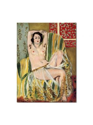 Tablou Arta Clasica Pictor Henri Matisse Green Striped Chair 1923 80 x 100 cm