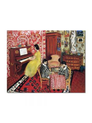 Tablou Arta Clasica Pictor Henri Matisse Pianist and Checker Players 1924 80 x 100 cm