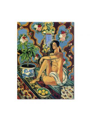 Tablou Arta Clasica Pictor Henri Matisse Decorative Figure on an Ornamental Background 1925 80 x 100 cm