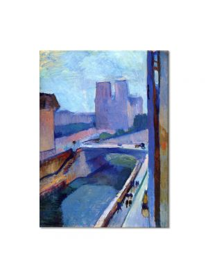Tablou Arta Clasica Pictor Henri Matisse A Glimpse of Notre-Dame in the Late Afternoon 1902 80 x 100 cm