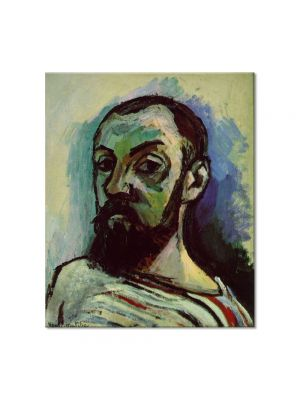 Tablou Arta Clasica Pictor Henri Matisse Self-Portrait in a Striped T-Shirt 1906 80 x 90 cm