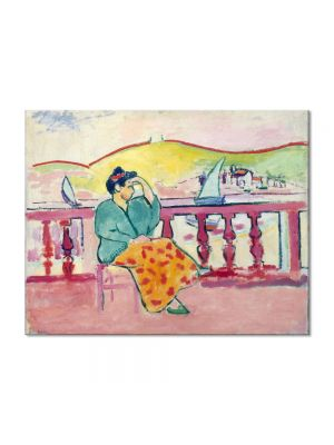 Tablou Arta Clasica Pictor Henri Matisse Lady on a Terrace 1907 80 x 100 cm