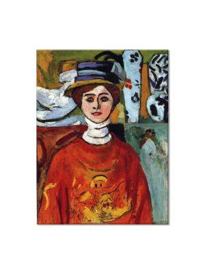 Tablou Arta Clasica Pictor Henri Matisse The girl with green eyes 1908 80 x 100 cm