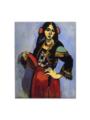 Tablou Arta Clasica Pictor Henri Matisse Spanish Woman with a Tamborine 1909 80 x 100 cm