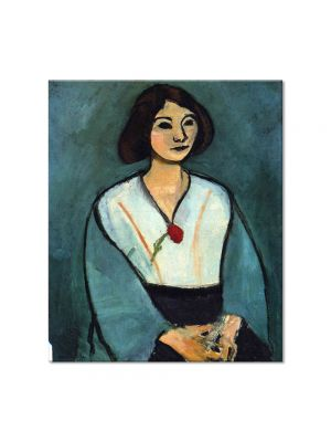 Tablou Arta Clasica Pictor Henri Matisse Woman in Green with a Carnation 1909 80 x 90 cm