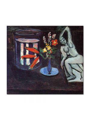 Tablou Arta Clasica Pictor Henri Matisse Fish tank in the room 1912 80 x 90 cm