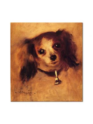 Tablou Arta Clasica Pictor Pierre-Auguste Renoir Head of a dog 1870 80 x 90 cm