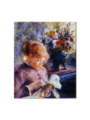 Tablou Arta Clasica Pictor Pierre-Auguste Renoir Young woman sewing 1879 80 x 90 cm
