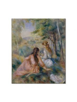 Tablou Arta Clasica Pictor Pierre-Auguste Renoir Picking flowers in the field 1890 80 x 90 cm