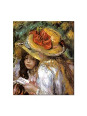 Tablou Arta Clasica Pictor Pierre-Auguste Renoir Two young girls reading 1891 80 x 90 cm
