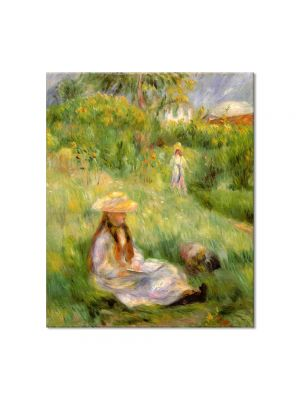 Tablou Arta Clasica Pictor Pierre-Auguste Renoir Young girl in the garden at Mezy 1891 80 x 90 cm