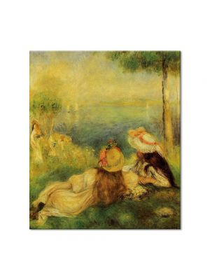 Tablou Arta Clasica Pictor Pierre-Auguste Renoir Young girls by the sea 1894 80 x 90 cm