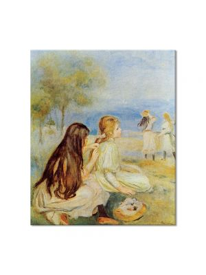 Tablou Arta Clasica Pictor Pierre-Auguste Renoir Young girls by the sea 1895 80 x 90 cm