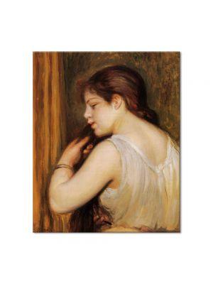 Tablou Arta Clasica Pictor Pierre-Auguste Renoir Young girl combing her hair 1896 80 x 90 cm